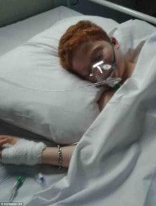 Callum in hospital